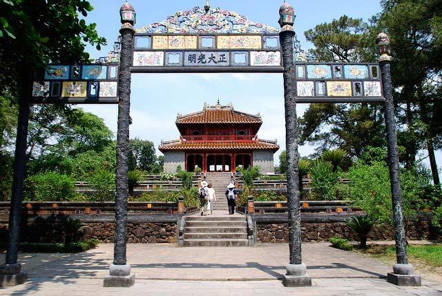 Gateway Minh Mang Tomb Hue Vietnam