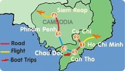 Best South Vietnam Cambodia Tour–10 Days